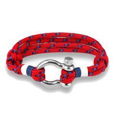 Bracelet Bout, cordage nautique fermoir manille lyre