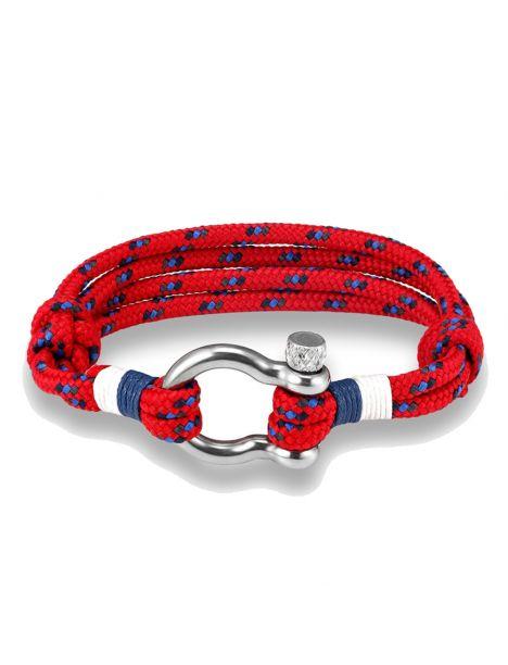Bracelet Bout, cordage nautique fermoir manille lyre Clj Charles Le Jeune Bracelets Homme