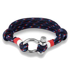 Bracelet quadruple cordage fermoir manille lyre Clj Charles Le Jeune Bracelets Homme