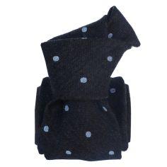Cravate en laine et soie, Catane Marine Segni et Disegni Cravates