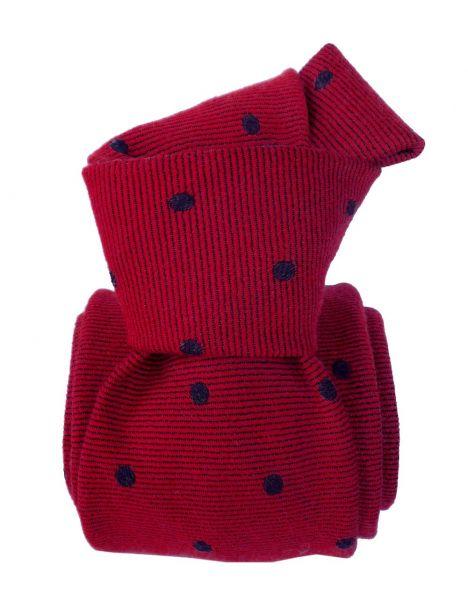 Cravate en laine et soie, Catane Rouge Segni et Disegni Cravates