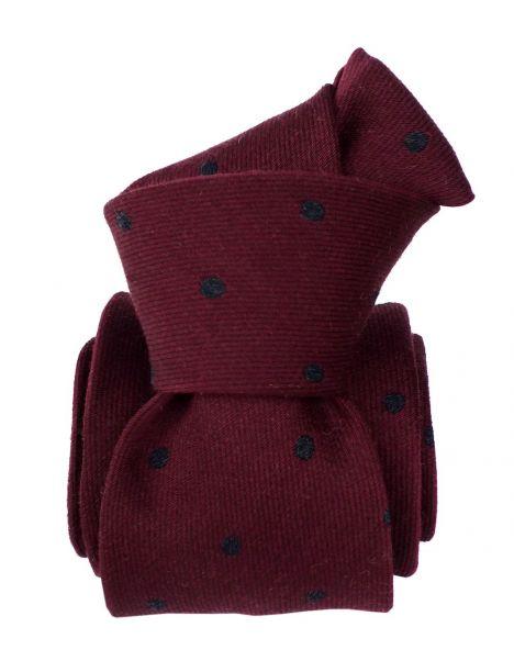 Cravate en laine et soie, Catane Bordeaux Segni et Disegni Cravates