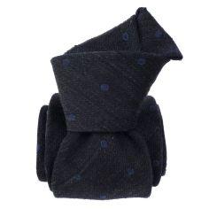 Cravate en laine et soie, Catane Gris Anhracite Segni et Disegni Cravates