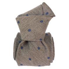 Cravate en laine et soie, Catane Gris Silver Segni et Disegni Cravates
