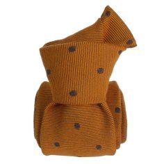 Cravate en laine et soie, Catane Cuivre Segni et Disegni Cravates