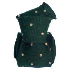 Cravate en laine et soie, Catane Vert Anglais Segni et Disegni Cravates