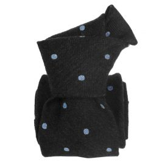 Cravate en laine et soie, Catane Gris anthracite Segni et Disegni Cravates