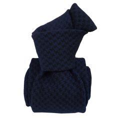 Cravate en laine et soie, Toscane Bleu profond