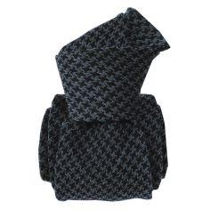 Cravate en laine et soie, Toscane Gris et noir