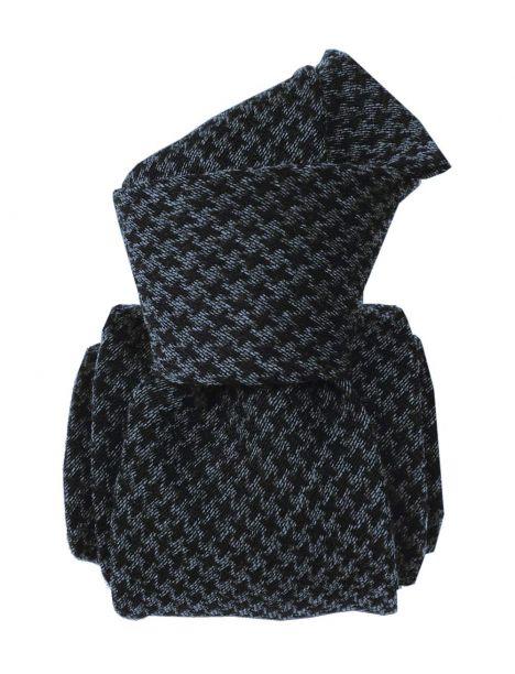 Cravate en laine et soie, Toscane Gris et noir Segni et Disegni Cravates