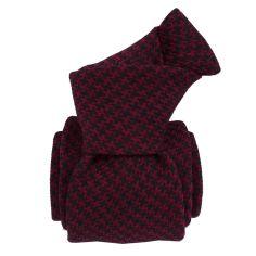Cravate en laine et soie, Toscane Bordeaux Segni et Disegni Cravates