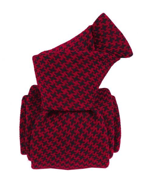 Cravate en laine et soie, Toscane Rouge Segni et Disegni Cravates
