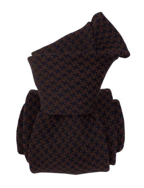 Cravate en laine et soie, Toscane Marron Segni et Disegni Cravates