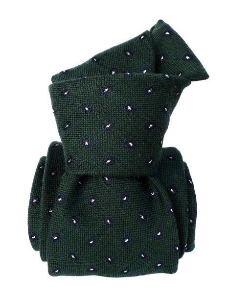 Cravate en laine et soie, Sardaigne Vert Segni et Disegni Cravates