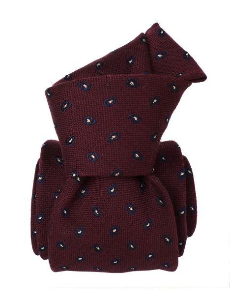 Cravate en laine et soie, Sardaigne Bordeaux Segni et Disegni Cravates