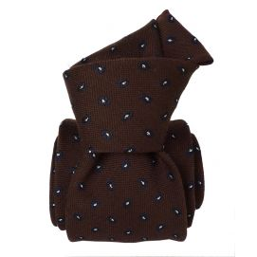 Cravate en laine et soie, Sardaigne Marron Segni et Disegni Cravates
