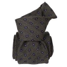 Cravate en laine et soie, Sardaigne Gris Segni et Disegni Cravates