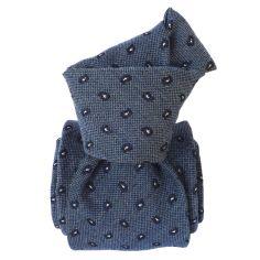 Cravate en laine et soie, Sardaigne Deux Bleu