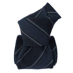 Cravate en laine et soie, Basilicata Bleu Segni et Disegni Cravates