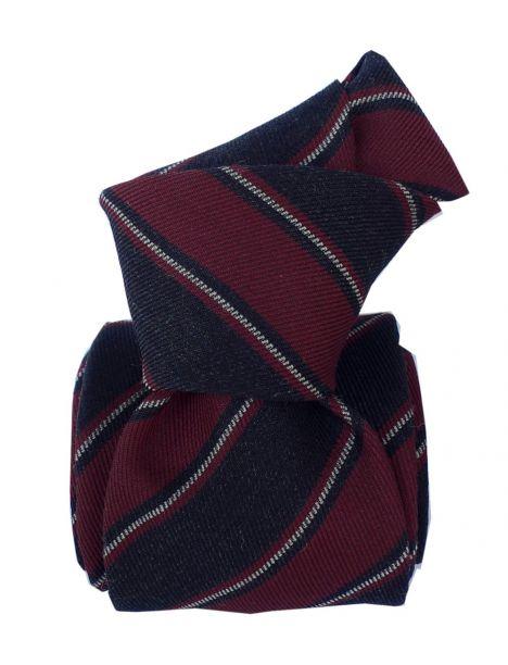 Cravate en laine et soie, Basilicata Bordeaux Segni et Disegni Cravates