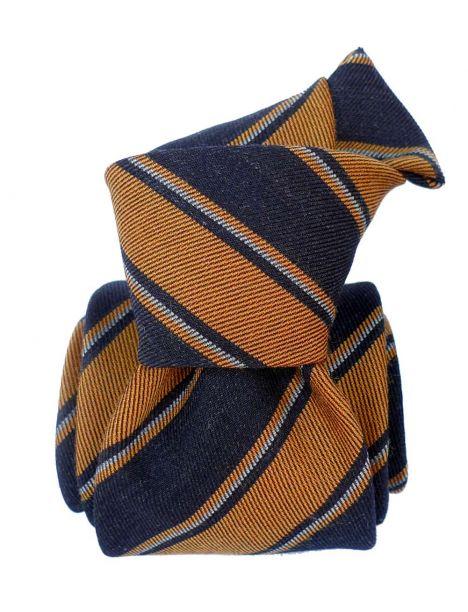 Cravate en laine et soie, Basilicata Mandarine Segni et Disegni Cravates