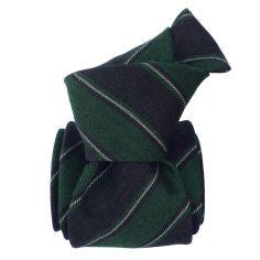 Cravate en laine et soie, Basilicata Vert Anglais Segni et Disegni Cravates