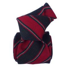 Cravate en laine et soie, Basilicata Rouge Segni et Disegni Cravates