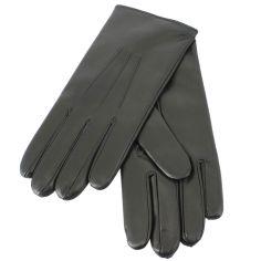 Gants cuir noir Luxe, Nappa-cachemire, fait main en Italie.