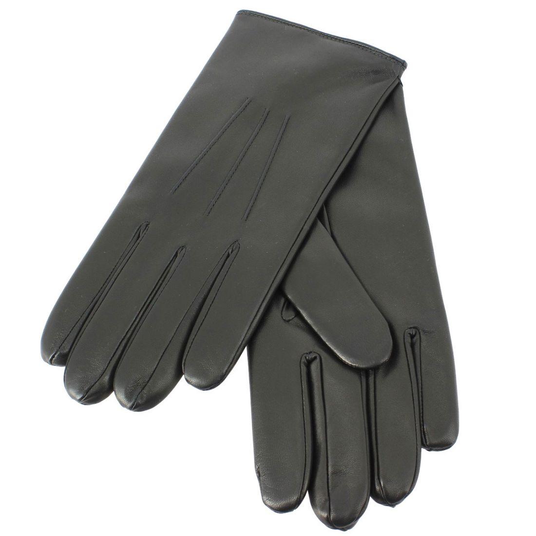 882b56c756a7b Gants cuir noir Luxe, Nappa-cachemire, fait main en Italie.