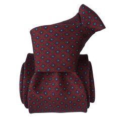 Cravate Segni Disegni LUXE, Faite main, 3 plis Bordeaux