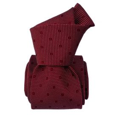 Cravate Segni Disegni LUXE, Faite main, Prato Bordeaux