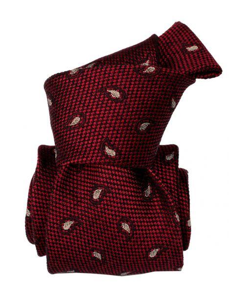Cravate Segni Disegni LUXE, Faite main, Aquila rouge Bordeaux Segni et Disegni Cravates