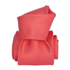 Cravate Segni Disegni LUXE, Faite main, Satin Rouge corail