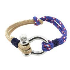 Bracelet Amarre, cordage nautique fermoir manille lyre