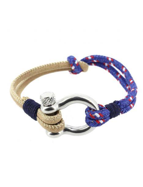Bracelet Amarre, cordage nautique fermoir manille lyre Clj Charles Le Jeune Bracelets Homme