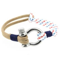Bracelet Babord, cordage nautique fermoir manille lyre