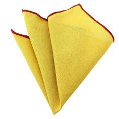 Pochette Brighton coton jaune canari
