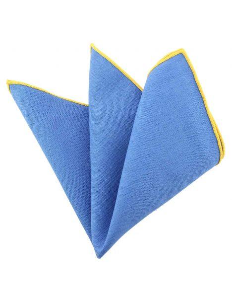 Pochette Brighton coton bleu opaline Clj Charles Le Jeune Pochettes