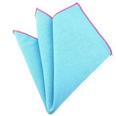 Pochette Brighton coton bleu lagon