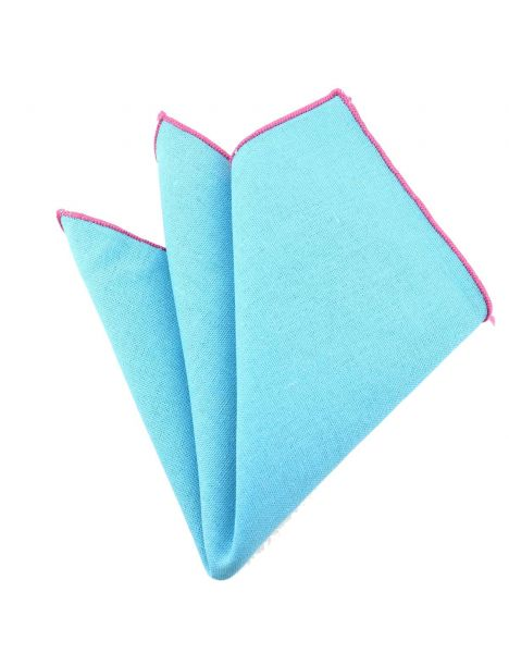 Pochette Brighton coton bleu lagon Clj Charles Le Jeune Pochettes