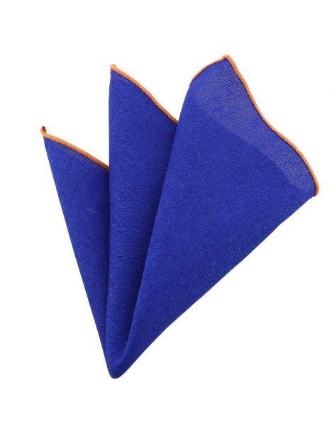 Pochette Brighton coton bleu king Clj Charles Le Jeune Pochettes