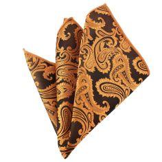 Pochette orange cuivre compagnie des indes Paisley
