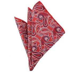 Pochette rouge compagnie des indes Paisley