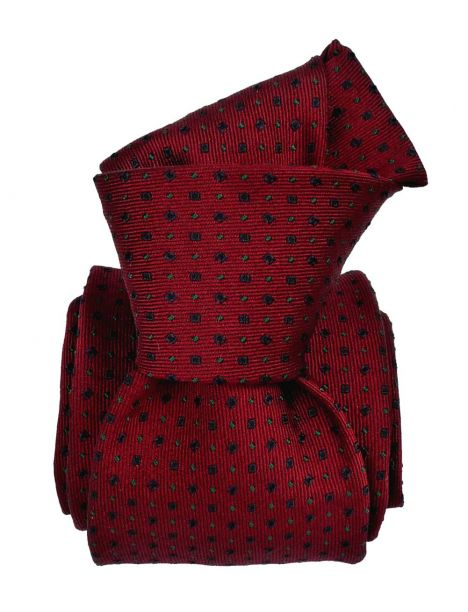 Cravate Segni Disegni, Mogador, Messine rouge Bordeaux Segni et Disegni Cravates