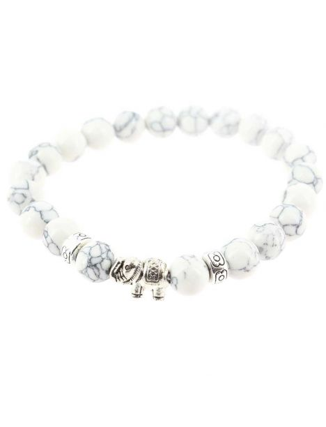 Bracelet éléphant blanc Clj Charles Le Jeune Bracelets Homme