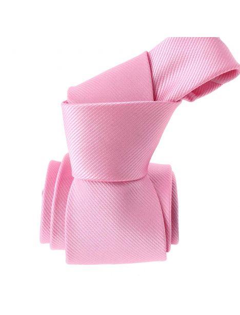 Cravate, rose unie, Mulhouse Clj Charles Le Jeune Cravates