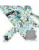 Cravate en soie, Bayeux Tapisserie La Conquète, bleu Brochier Soieries 1890 Cravates
