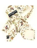 Cravate en soie, Bayeux Tapisserie La Conquète, beige Brochier Soieries 1890 Cravates
