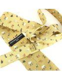 Cravate en soie, Bosch Le jardin des délices, ocre Brochier Soieries 1890 Cravates