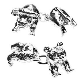 Boutons de manchette, Christopher Simpson, Animaux, Bull and Bear